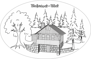 Hütte-Strichzeichnung-Transparent